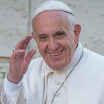 Pope Francis, waving