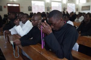Prayer, seminarians, Christ the King Seminary, Nyeri, Kenya