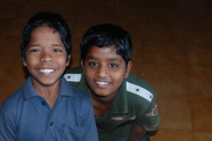 Boys from a home for street children, India