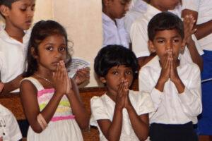 The prayers of Sri Lankan children
