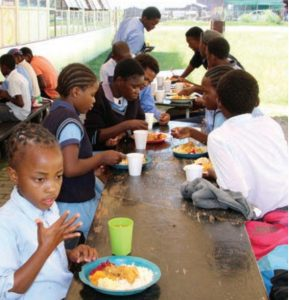 Children receive two meals a day at Tapologo Drop-In