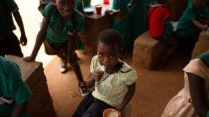 Children get a good meal