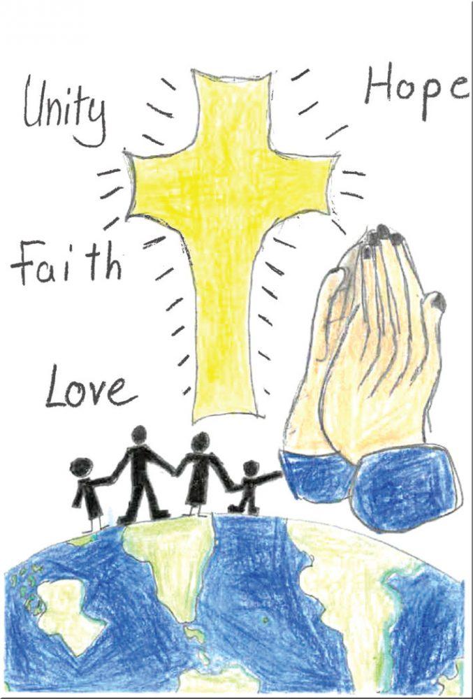 Praying hands around the world