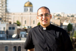 Student preparing for priesthood in Beit Jala, West Bank.