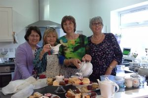 Making cream teas for World Mission Sunday