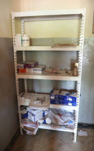 The poorly stocked medical supply room at Lisanjala Health Clinic in Malawi